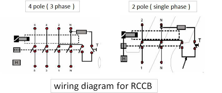 residual current circuit breaker electrical engineering centre rh electricneutron com wiring diagram of rccb