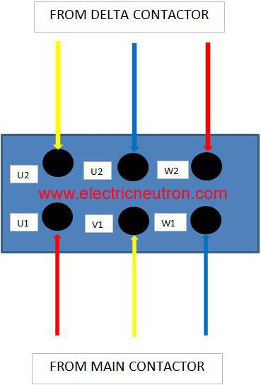 star delta motor connection electrical engineering centre rh electricneutron com wye delta motor starter wiring diagram electric motor star delta wiring diagram