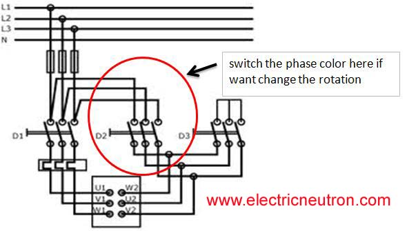 rotation change copy star delta motor connection electrical engineering centre wye delta starter wiring diagram at n-0.co