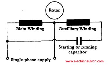single phase capacitor wiring motor start and run capacitor,Single Phase Motor Capacitor Wiring