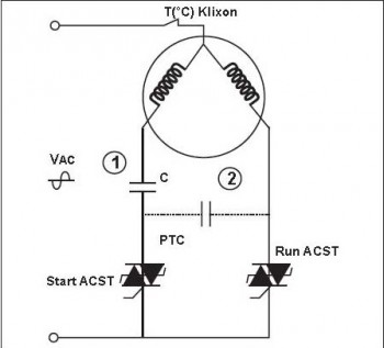 2) Start and run capacitor