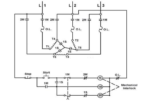 star delta motor control circuit diagram the wiring diagram electro mechanical star delta starter circuit diagram