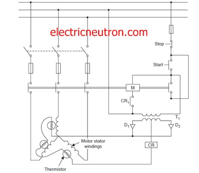 motor thermistor wiring diagram wiring diagrams motor protection over temperature typical connection of thermistor