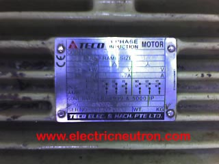 ac motor nameplate electrical engineering centre